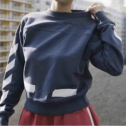 Wholesale Fashion Round Neck Sweater - CHap x O Fashion Hoodies 18SS Basic Round Neck Sweater Oversize Style BF Wind Easy Small Embroidery Logo Men And Women Sweater HFBYWY015