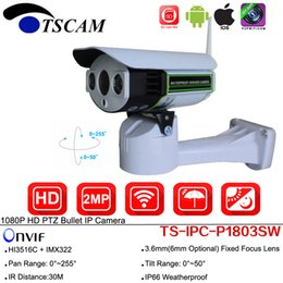 Wholesale camera ip hd onvif - SP-P1803SW Wireless Wifi Full HD 1080P 2.0MP PTZ Bullet IP Camera Pan Tilt ONVIF IR With SD Card Slot P2P CCTV Security Camera