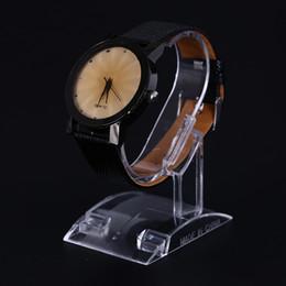 relógios de pulso plásticos Desconto Titular rack de exibição de relógio de pulso de plástico transparente venda show case stand ferramenta de Exibição de Relógio de Acrílico Claro Stand Titular Rack de Ferramenta