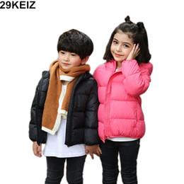 3daf85731 2018 Kids Winter Jacket Red Girls Abrigos abrigos abrigos con capucha de  manga larga Negro Boys Down Jacket Niños Down Parkas