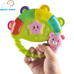 Wholesale Glow Toys Flower - Wholesale- Baby rattle muticolor baby toys shaker flower bed stroller playing hanging hand bell musical instrument glowing receation sleep