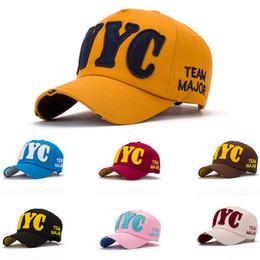 Wholesale New Ny Caps - 2018 New Women NYC Baseball Caps Hats NY Snapback Caps Cool Hip Hop Hats Cotton Adjustable Brand Caps Summer Sun Shade Hats