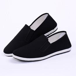 semelle en caoutchouc noir toile vamp kung fu chaussures en gros pas cher tai chi chaussures aile chun vêtements chaussures ? partir de fabricateur
