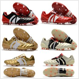Wholesale Best Sizes - 2018 Best Quality Predator Mania ACE 17+ Purecontrol Champagne FG Soccer Boots Football Boots White Core Mens Cleats Shoes Size 39-46