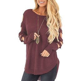 WOTWOY Casual O-Neck Knitted Sweater Women 2018 Autumn Winter Solid Long  Lace Up Sleeve Pullovers Sweaters Female Jumpers Sexy c0eb7976c