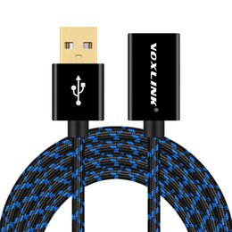 Wholesale Chinese Usb Keyboard - VOXLINK USB Extension Cable Male to Female Camouflage Braided Gold-Plated Data Transfer Extend Cable For Keyboard Mouse Hard Driver
