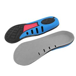 Puntos de masaje de pies online-Arco soporte plantilla pie plano corrección alivio de absorción de choque siete puntos cojín plantilla unisex masaje de pies transpirable