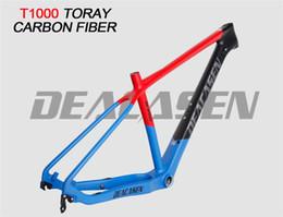 Wholesale Frames Suspension - Deacasen carbon mtb frame Toray T1000 carbon suspension trail bike MTB 27.5 ER bicycle frame 27.5 carbon