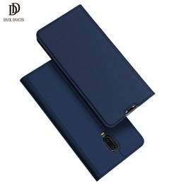 "Estuche para tarjeta oneplus online-DUX Luxury Flip Funda de cuero para OnePlus 6T 6.4 ""Book Stand Wallet Titular de la tarjeta cubierta del teléfono para One Plus 6 T 1 + 6t Funda Coque"