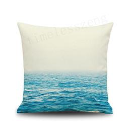 Fiumi di pittura online-Ocean sea fiume cielo stellato universo dipinto federa cuscino divano auto ufficio casa decorativo 45 * 45 cm federa
