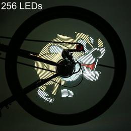 vidéo de roues Promotion DIY Vélo Lumière Professionnel DIY Cyclisme Vélo 256/416 LEDs Étanche Coloré Changement Vidéo Cadeau Photos Vélo Roue Parlé Lumière