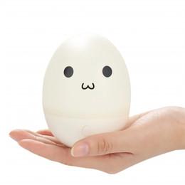Wholesale Egg Shaped Boxes - Mini Portable Bluetooth Speaker Wireless Lovely Emoji Egg Shape Music Night Light Smart Touch Speaker for Mobile Phone
