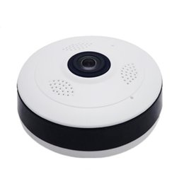 Panorama hd camera online-Telecamera panoramica Fisheye VR HD 1080P 1.3MP Telecamera IP wireless Wifi Telecamera di sicurezza domestica Telecamera Wi-Fi 360 Gradi Webcam V380
