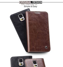 Wholesale Phone Protective Covers - B11 Flip Leather Case for Samsung Galaxy S5,Luxury Full Protective Card Holder Phone Cover for galaxy S5