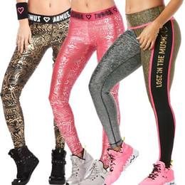 Wholesale gold spandex leggings - S M L woman Light Up The Dance Floor Long Leggings yoga pants pink gold