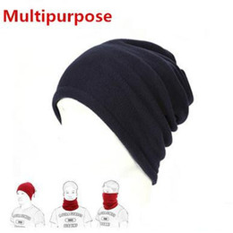 Wholesale Neck Warmer Scarf Sport - 1PC 3 in1 Winter Unisex Women Men Sports Thermal Fleece Scarf Neck Warmer Face Mask Beanie Hats NQ874630