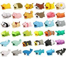Deutschland Hot Cable Bite 36styles Tier Biss Kabel Protector Zubehör Spielzeug Kabel beißt Hund Schwein Elefant Axolotl für iPhone Smartphone Ladekabel supplier protector dogs Versorgung