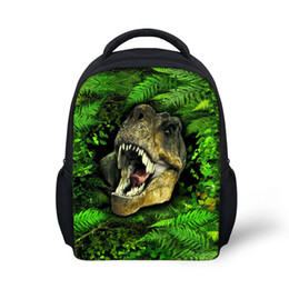 Wholesale college backpacks men - Noisydesigns Green Cool School Bags Print Fierce Beast Schoolbag for Primary Boys High College Student Bookbags Travel Bag