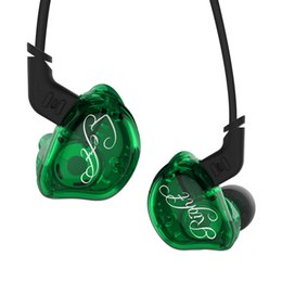 Wholesale green dynamics - Headphones In-Ear Earphone with Microphone KZ Dynamic Hybrid Headset HIFI Bass with Replaced Cable Noise Cancelling Earbuds for Samsung S9