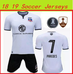 Wholesale Best Silk - Adult suits 2018 2019 colo colo Jersey 18 19 Chile Club home away white black best thai quality soccer shirts jeresys