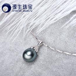 [YS] Los últimos diseños colgantes 925 Sterling Silver 9-10mm Colgante de perlas de Tahití natural desde fabricantes