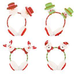2019 schwarzes fauxpelzstirnband Kindererwachsener Winter-Weihnachtsweihnachtsmann-doppelte Puppe-Ohrenschützer-wärmerer Stirnband-Verschluss