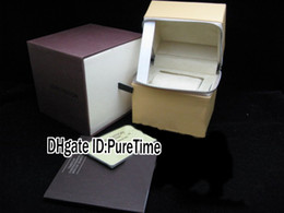Wholesale Paper Bag Tags - Hight Quality Luxury Brand Brown Watch Box Wholesale Mens Womens Watch Original Watches Box Certificate Card Gift Brand Paper Bags LUBOX