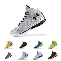 Wholesale Christmas Cushions - Under Armour UA The Moment MVP PE USA 30 Stephen Curry 1 Champion men basketball shoes Athletic Sports Sneakers Cushion trainers