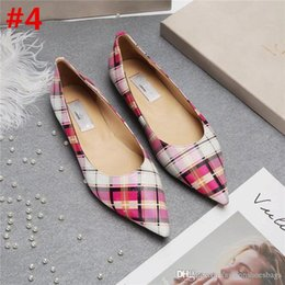 Wholesale pink kitten heels - 2018 Fashion Ladies Jimm FC Choo Romy Chalk Pointed Toe Low Heel Classic Brown Leather Pointed Toe Low Kitten Heels Wedge Shoes With Box