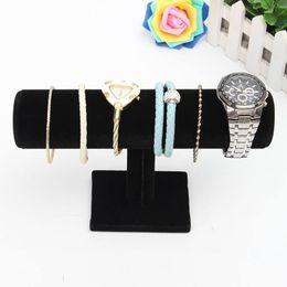 Wholesale Jewelry Bar Organizer - 1Pcs Bracelet Chain Watch Holder T Bar Rack Jewelry Display Organizer Stand Holder Packgaing Velvet