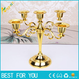 Wholesale Hotel Matches - New 2018 European Candlestick Three Five Decoration Vintage Romantic Wedding Props Candlelight Dinner Restaurant Hotel Home Decoration