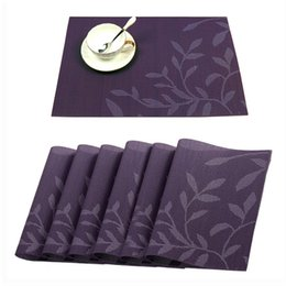 Wholesale wholesale dining placemats - PVC Placemats, Washable Woven Vinyl Placemat Western Mats Pad for Dining Table Heat Resistant Stain Resistant Kitchen Table Mats 0188