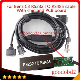 Wholesale audi c3 - For Mb Star C3 Multiplexer OBD2 Cable Connector RS232 to RS485 Cable Car Diagnostic Tools Cables Connect MB STAR C3 to computer