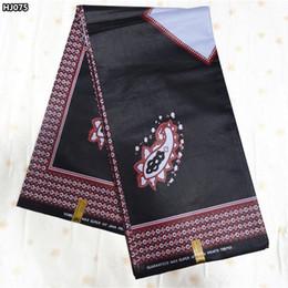 Wholesale High Quality Super Wax - Classic design black high quality African cotton super java wax fabric veritable print batik wax Ankara fabric for sewing HJ075