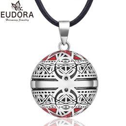 Bola mexicana chime campana embarazo online-EUDORA Harmony Ball Necklace Vintage Chime Bola Colgante para Mujeres Regalo de Joyería de Moda Bola Embarazo Mexicano 45 '' cadena
