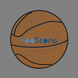 Diamantes de imitación transfieren motivos online-Bling Basketball Rhinestone Iron On Transfers Hotfix Motif Applique Para Camisetas 20pcs