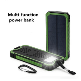 Wholesale outdoor power cable - 20000 Ma solar mobile power supply outdoor camping light mobile phone rechargeable treasure good quality free shipping