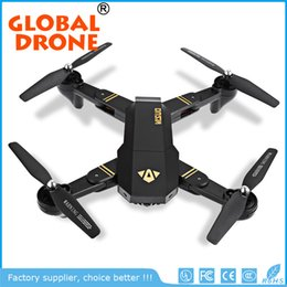 Wholesale Video Camera Connections - XS809HW Quadcopter Aircraft Wifi FPV 2.4G 4CH 6 Axis Altitude Hold Function RC Drone with 720P HD 2MP Camera Drone RC Foldable