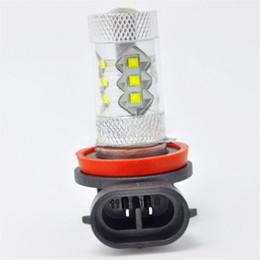 Dia de coche conducido corriendo online-H8 H11 80W LED bombilla del faro antiniebla Bombillas de conducción Auto Car Day Running Light Proyector 12V
