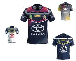 Wholesale north blue - 2018 NRL JERSEYS QUEENSLAND COWBOYS Top Quality North Queensland Cowboys 2017-2018 Rugby Jersey Short Sleeve Men Shirts Size S-3XL