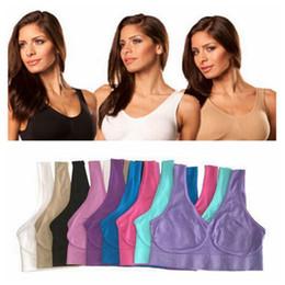 Wholesale ladies bra underwear - Top Quality Sexy Underwear Seamless Ladies ahh Bra Sizes Sport Yoga Bra Microfiber Pullover Bra Body Shape 9 colors 6 size 1000pcs