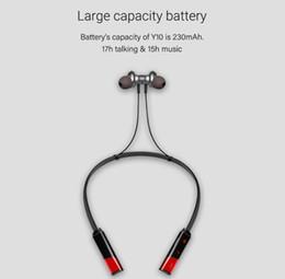 bluetooth neck telefone Rabatt Y10 drahtloser Bluetooth Kopfhörer Neck-Mounted Sport-Kopfhörer für Apple iPhone Android Smartphones Stirnband-Kopfhörer mit Kleinpaket 2019