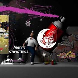 Wholesale Snowflake Vinyl Window Stickers - Merry Christmas Xmas Santa Snowflake Moon Wall Window Sticker Vinyl Art Decals