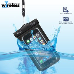 Wholesale Phone Pouch Bag - Waterproof phone bag PVC Protective Mobile Phone Case Pouch With Compass Bags Diving Swimming Sports For iphone X 7 8 plus S8 s8plus