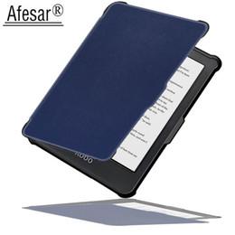 Для Rakuten Кобо Клара HD 6 дюймов ультра тонкий мягкий ТПУ смарт обложка книги читалка кожаный чехол магнитный сна флип fit N249 от