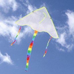 Wholesale Children Beach Paintings - Wholesale- DIY Painting Kite Foldable Outdoor Beach Kite Children Kids Sport Funny Toys Colorful Kite Flying