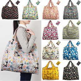 Wholesale Bedding Fabrics Wholesale - Waterproof Nylon Foldable Shopping Bags Reusable Storage Bag Eco Friendly Shopping Bags Tote Bags Large Capacity Free Shipping WX9-203
