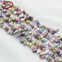 Wholesale Loose Pearl Strands - 5 strands package wholesale natural freshwater pearl strand loose beads irregular baroque pearls