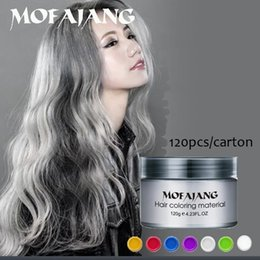 waxing hair wholesale Promo Codes - Mofajang hair wax for hair styling Mofajang Pomade Strong style restoring Pomade wax big skeleton slicked 120pcs carton box 7 colors