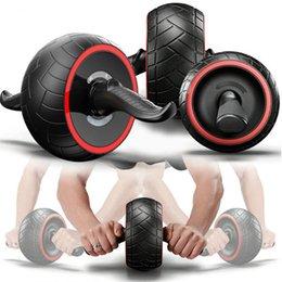 Rullo per Palestra Addominale Fitness a Doppia Ruota Rullo per Braccia Posteriore Addestratore di Pancia Pancia Ruote per Attrezzi Fitness Senza Rumore